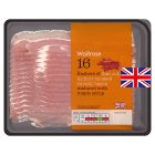 Waitrose thin cut hickory smoked streaky bacon - 250g