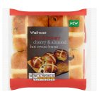 Waitrose 4 Cherry & Almond Hot Cross Buns - 4s