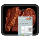 Waitrose Welsh lamb shoulder steaks with Baharat spices - 400g
