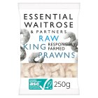 essential Waitrose raw king prawns - 235g