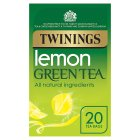 Twinings lemon green tea 20 tea bags - 40g Brand Price Match - Checked Tesco.com 01/07/2015