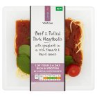 Waitrose LoveLife beef & pulled pork meatballs - 420g New Line