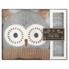 Aroma Home Owl Cosy Hat -
