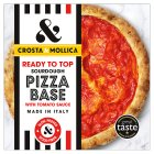 Crosta & Mollica pizza crust with tomato sauce
