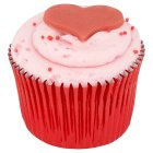 Heart Strawberry Cupcake -