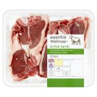 Waitrose essential British lamb chops - 450g