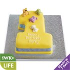 Vanilla Sponge 1st Birthday Cake (Blue) - each