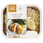 Waitrose Easy To Cook 2 chicken breasts stuffed with bacon & cheese - 290g