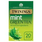Twinings mint green tea tea 20 tea bags - 40g