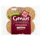 Genius seeded soft rolls - 4s Brand Price Match - Checked Tesco.com 16/04/2014