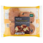 Waitrose lemon fruited buns - 4s