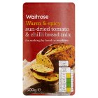 Waitrose sun dried tomato & chilli bread mix - 500g