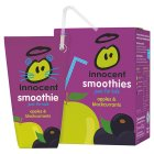 Innocent kids apple and blackcurrant smoothie, 4x180ml