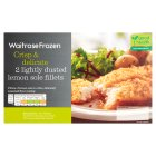 Waitrose Frozen 2 Lightly Dusted Lemon Sole Fillets - 270g