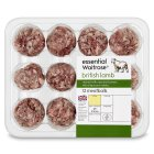essential Waitrose 12 British lamb meatballs - 432g