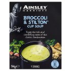 Ainsley Harriott broccoli & stilton cup soup, 4 servings - 94g Brand Price Match - Checked Tesco.com 17/12/2014
