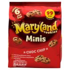 Mini Maryland choc chip 6 snack packs - 125g