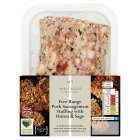 Waitrose free range pork sausagemeat with sage & onion stuffing - 400g