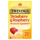 Twinings strawberry & raspberry 20 tea bags - 40g