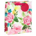 Waitrose Gift Bag Painted Floral Medium e - each