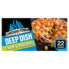 Chicago Town ham & pineapple deep dish pizza - 2x165g Brand Price Match - Checked Tesco.com 10/03/2014