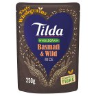 Tilda brown basmati & wild rice wholegrain - 250g