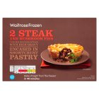 Waitrose frozen steak & mushroom pies - 440g