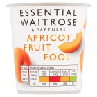 Waitrose apricot fruit fool - 120g