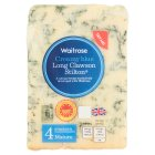 Waitrose creamy blue Long Clawson mature Stilton cheese, strength 4 - 150g