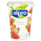 Alpro Soya strawberry & rhubarb plant-based alternative to yogurt - 500g