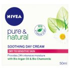 Nivea visage pure & natural soothing day cream - 50ml Brand Price Match - Checked Tesco.com 23/07/2014