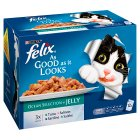 Felix 'As Good as it Looks' 12 pouches - Ocean Selection in jelly - 12x100g Brand Price Match - Checked Tesco.com 23/07/2014