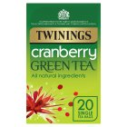 Twinings green tea with cranberry 20 tea bags - 40g