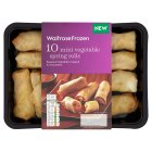 Waitrose Frozen 10 mini vegetable spring rolls - 180g