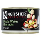 Kingfisher Oriental canned whole water chestnuts in water - drained 140g