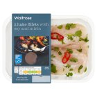 Waitrose 2 Hake Fillets with Soy and Mirin - 260g
