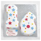 16th Birthday stars and dots cake - each
