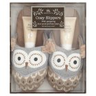 Aroma Home Owl Cosy Slippers -