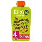 Ella's Kitchen Organic mangoes pears + papayas - stage 1 baby food - 120g Brand Price Match - Checked Tesco.com 20/10/2014