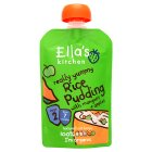 Ella's Kitchen Organic really yummy rice pudding with mangoes + apples- stage 2 baby food - 80g Brand Price Match - Checked Tesco.com 16/07/2014
