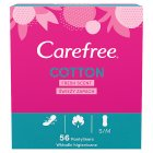 Carefree cotton fresh breathable pantyliners - 58s