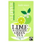 Clipper lime & ginger green tea - 40g Brand Price Match - Checked Tesco.com 29/09/2015