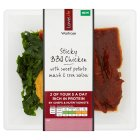 Waitrose LoveLife sticky barbecue chicken - 385g New Line