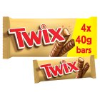 Twix bars, 4 pack - 160g Brand Price Match - Checked Tesco.com 25/05/2016