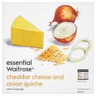 essential Waitrose cheddar cheese & onion quiche