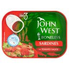 John West boneless sardines in tomato sauce