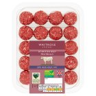 Waitrose Reduced Fat British Beef Meatballs - 300g
