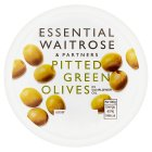 essential Waitrose pitted green olives - 130g