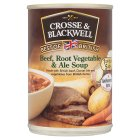 Crosse & Blackwell Best of British beef root vegetable & ale soup - 400g