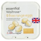 essential Waitrose free range eggs - 9s